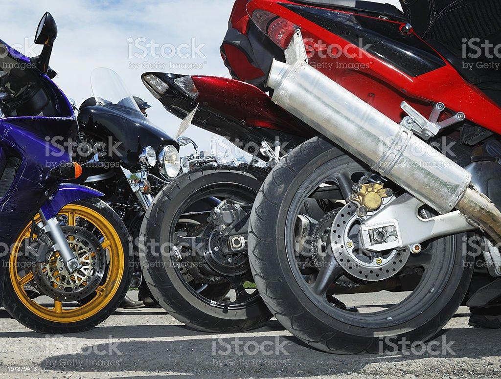 Speed bikes close up royalty-free stock photo
