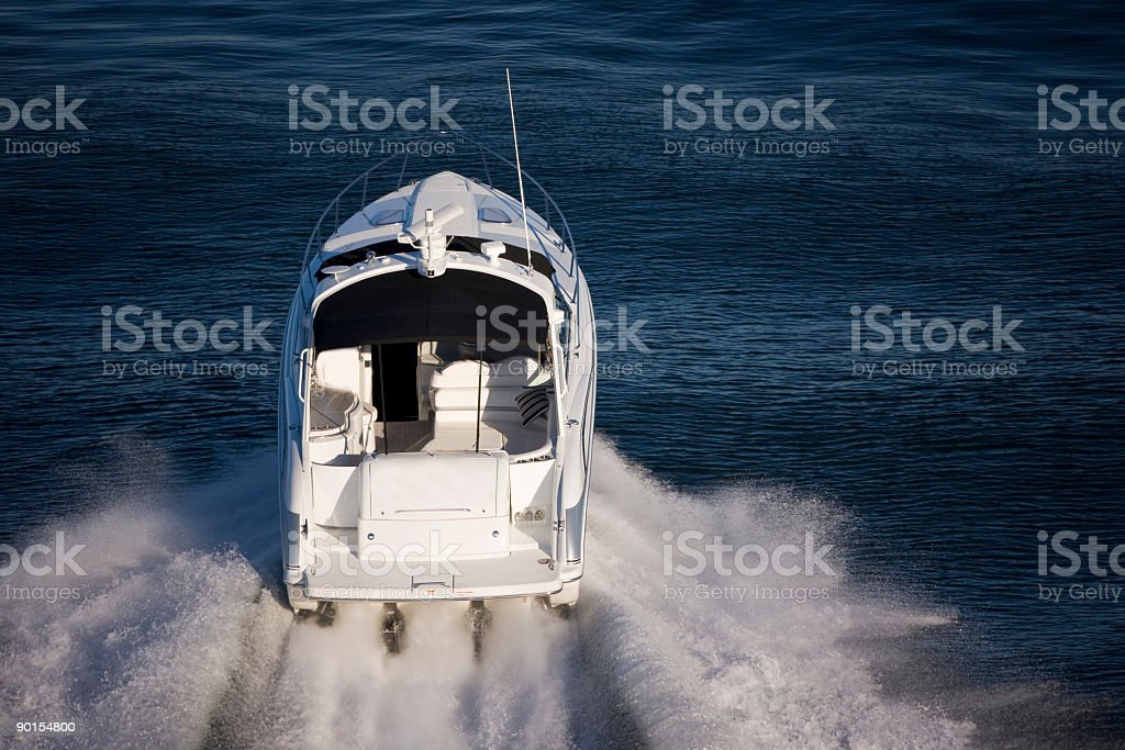 Speed Boat 'Aerial' stock photo