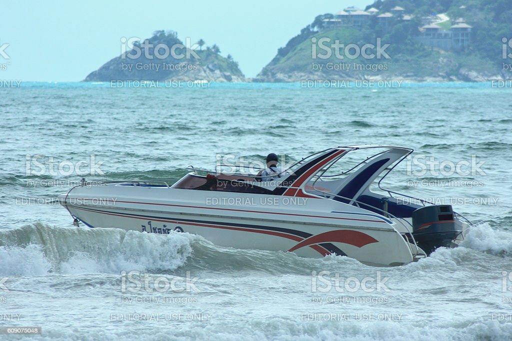 Speed boat in Phuket stock photo