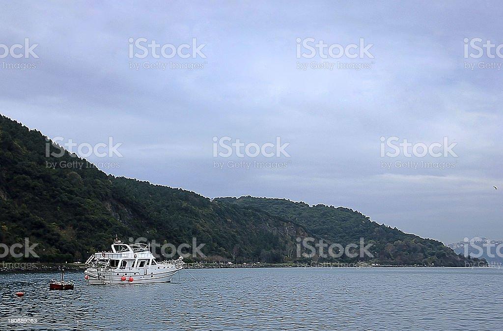 Speed boat on marmara sea royalty-free stock photo