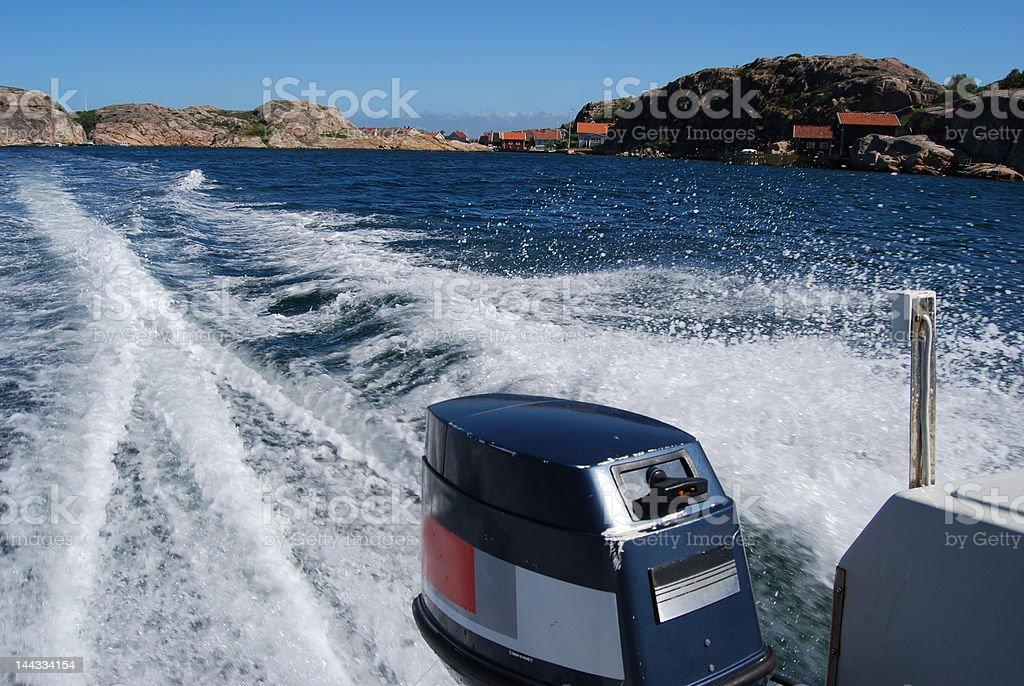 Speed boat ride stock photo