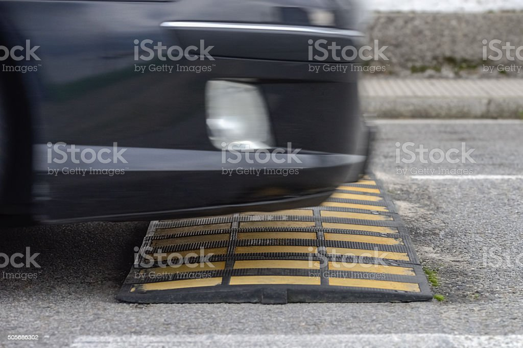speed bump stock photo