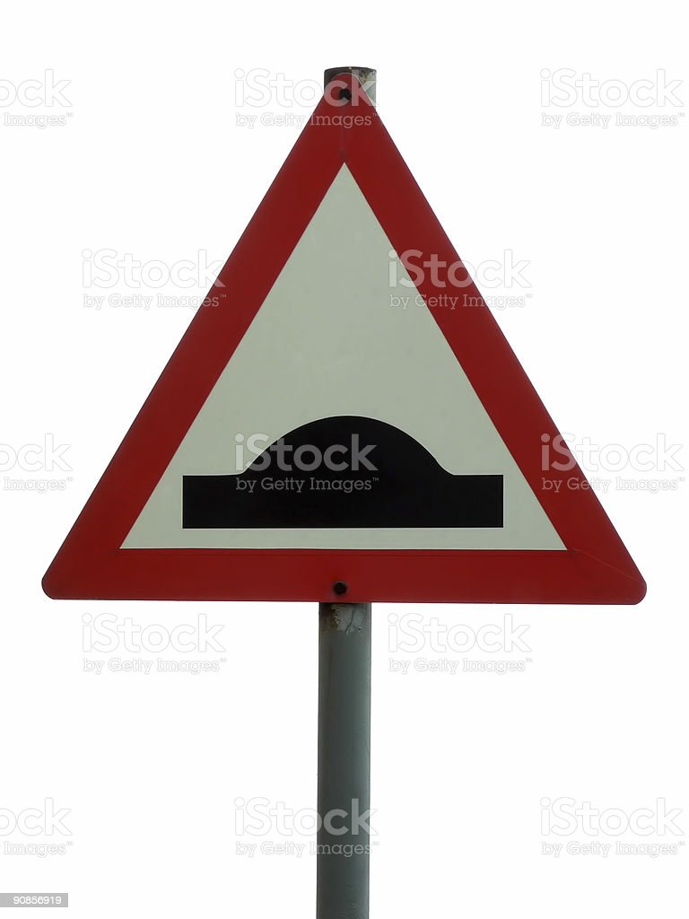 Speed bump royalty-free stock photo