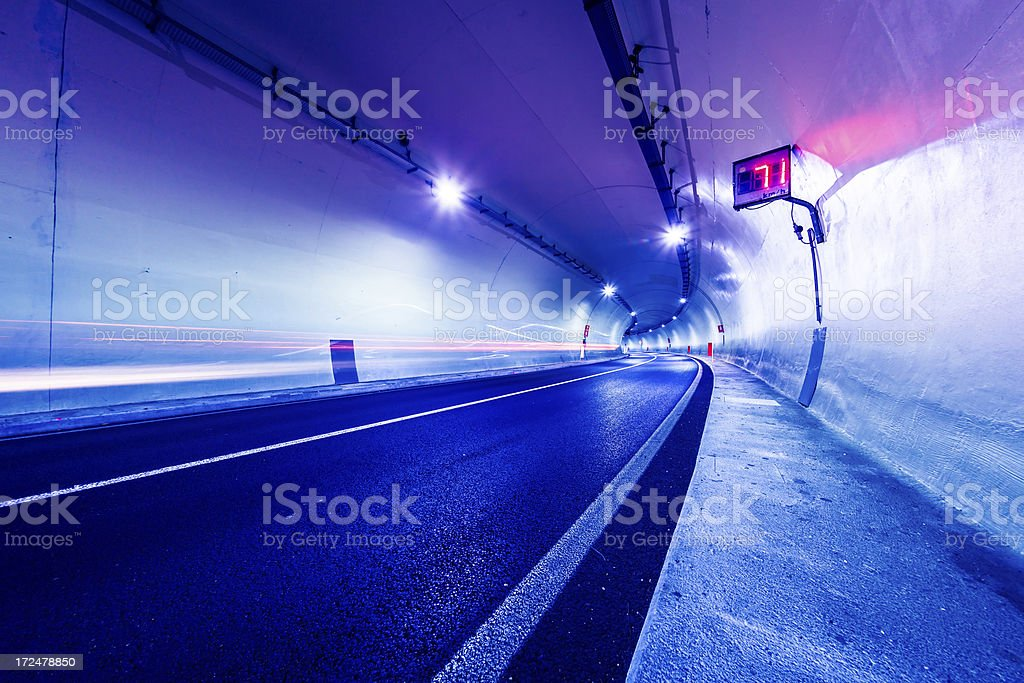 Speed Camera in Road Tunnel stock photo