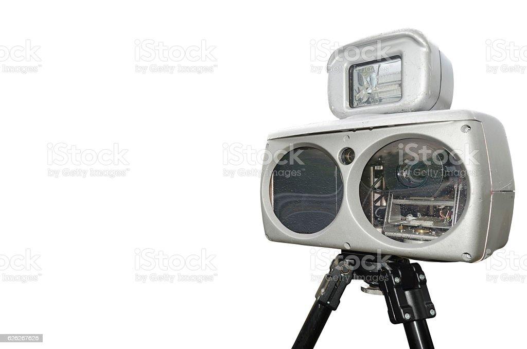 speed camera isolated stock photo