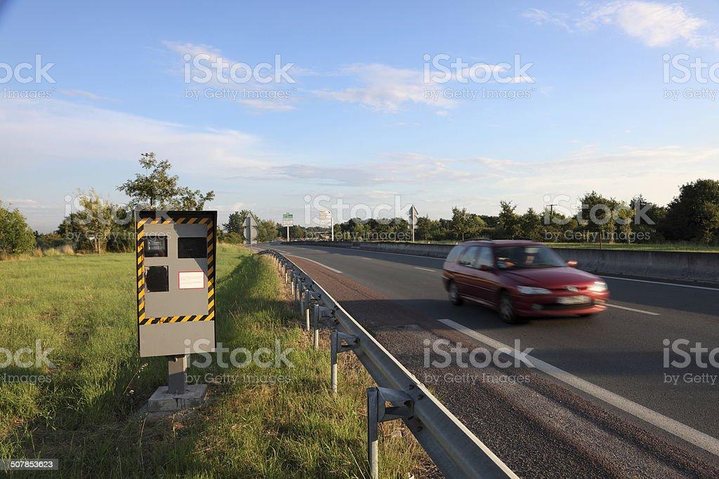 Speed camera stock photo