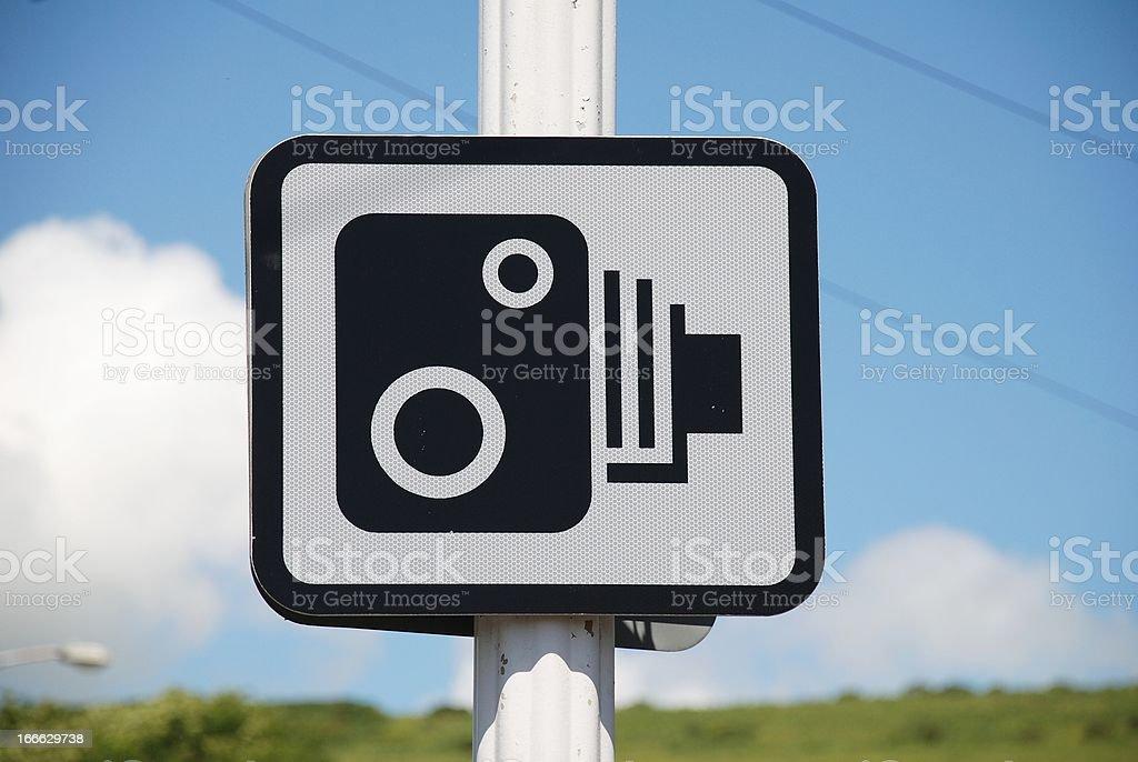 Speed camera sign, Folkestone stock photo