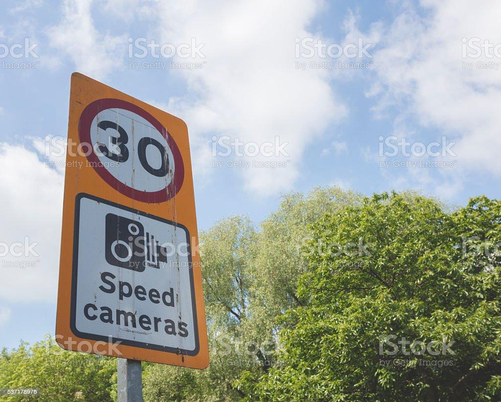 Speed Camera sign stock photo