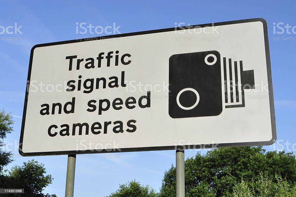 Speed Camera Warning Sign royalty-free stock photo