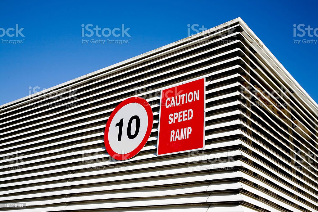 Speed Caution Signs stock photo