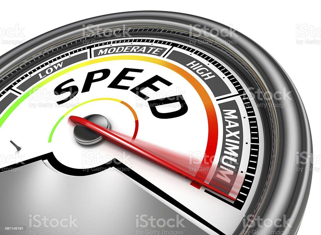 speed conceptual meter stock photo