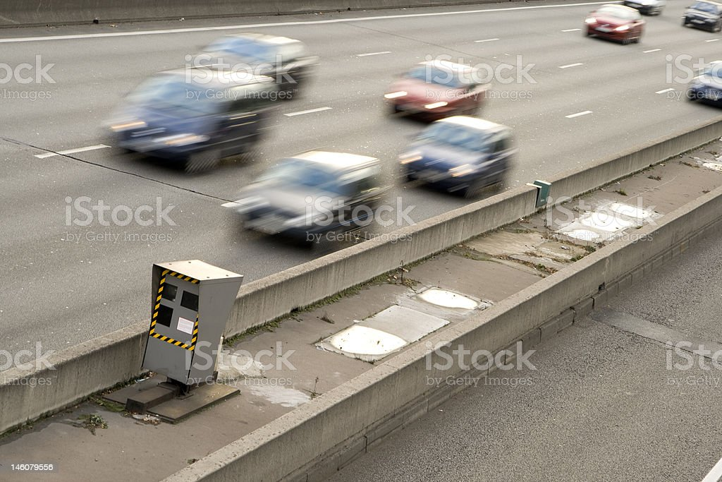 Speed control radar stock photo