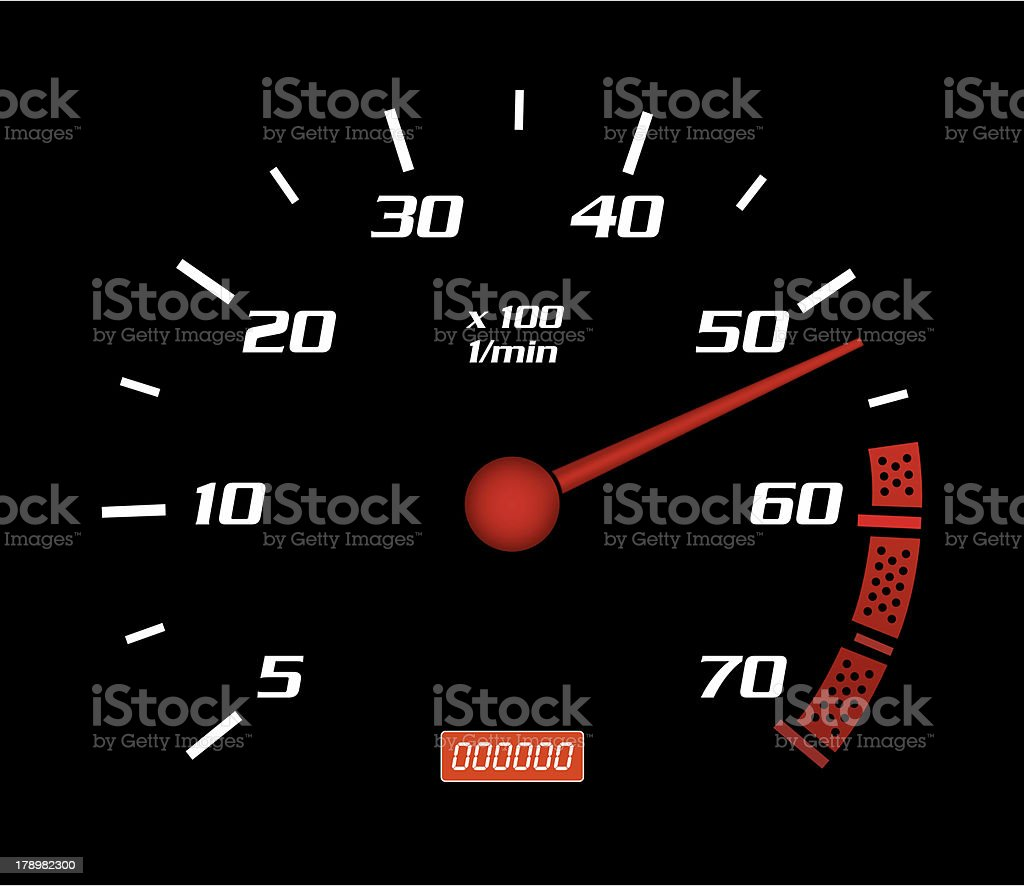 Speed Dashboard royalty-free stock photo