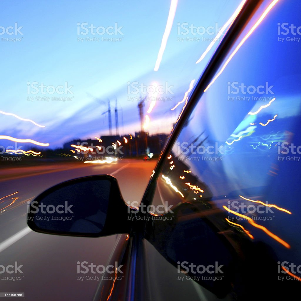 speed drive royalty-free stock photo
