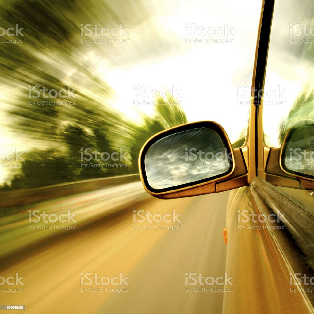 Speed driving stock photo