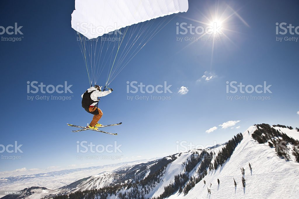 Speed Flyer Into The Sun stock photo