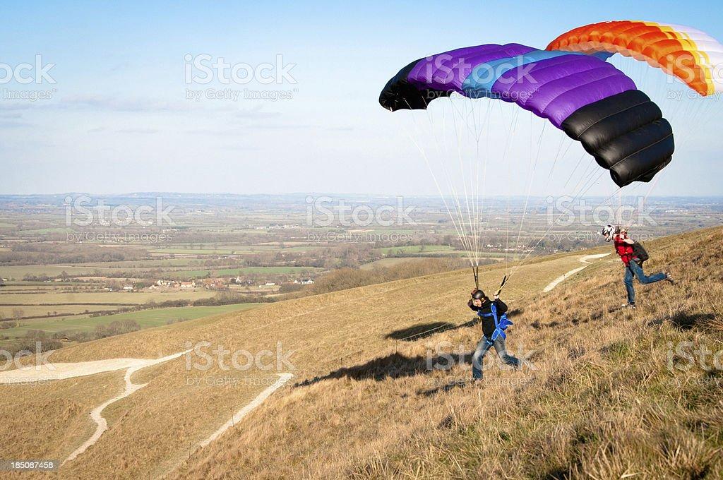 Speed flying at Uffington White Horse stock photo