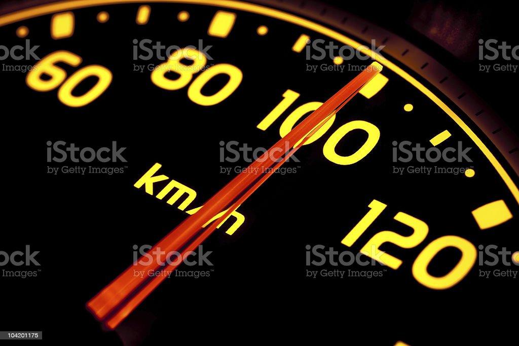 Speed gauge royalty-free stock photo
