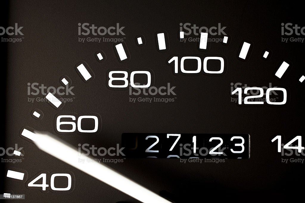 Speed gauge royalty-free stock photo