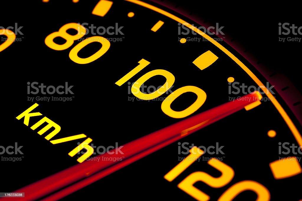 Speed gauge stock photo