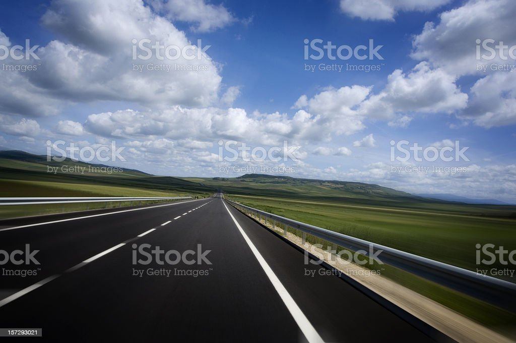 Speed Highway royalty-free stock photo