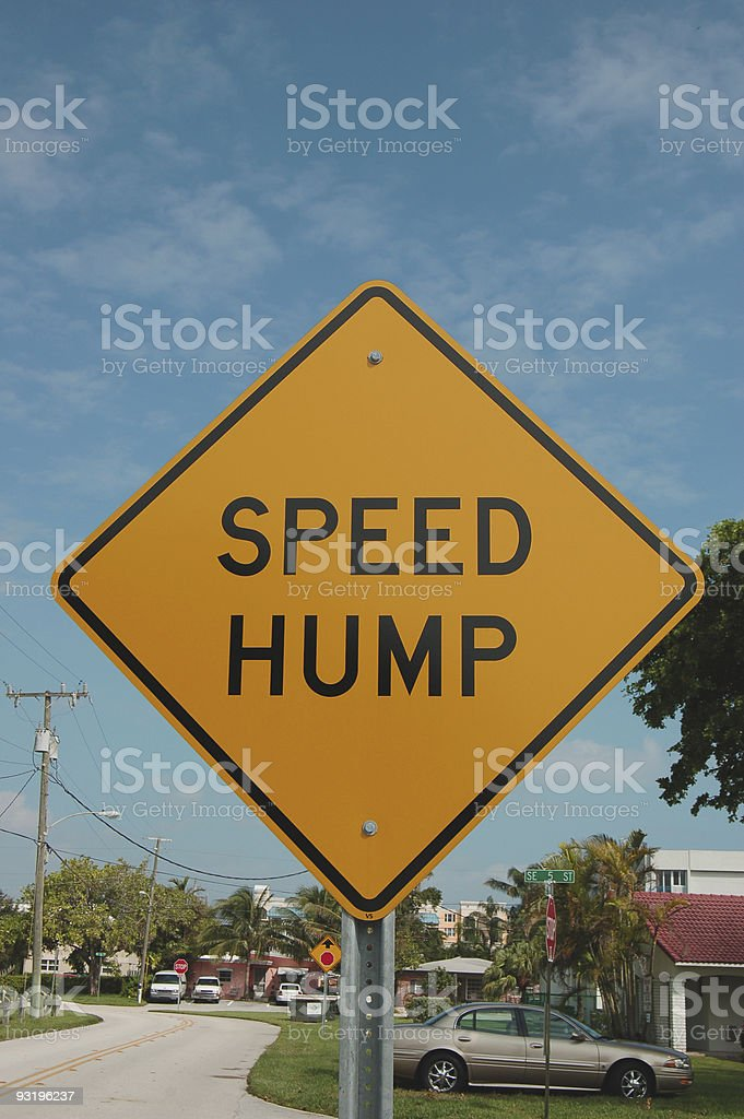 Speed hump!? royalty-free stock photo