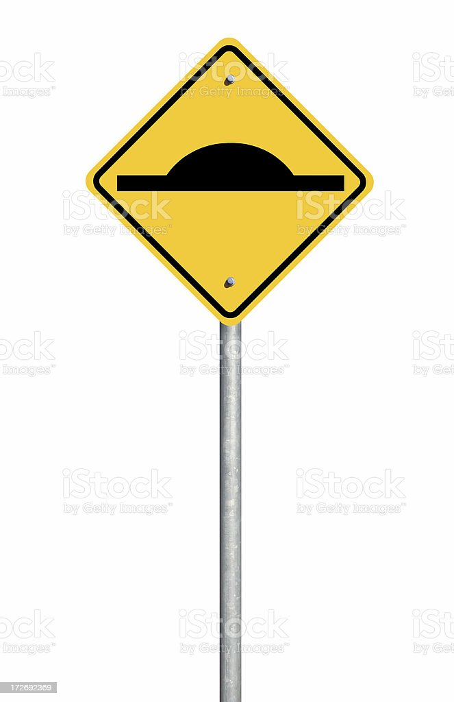 Speed Hump Sign stock photo