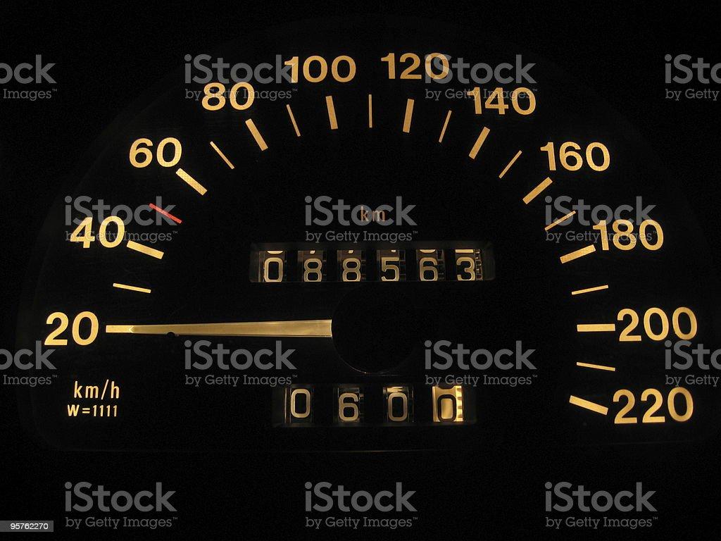 Speed indicator stock photo