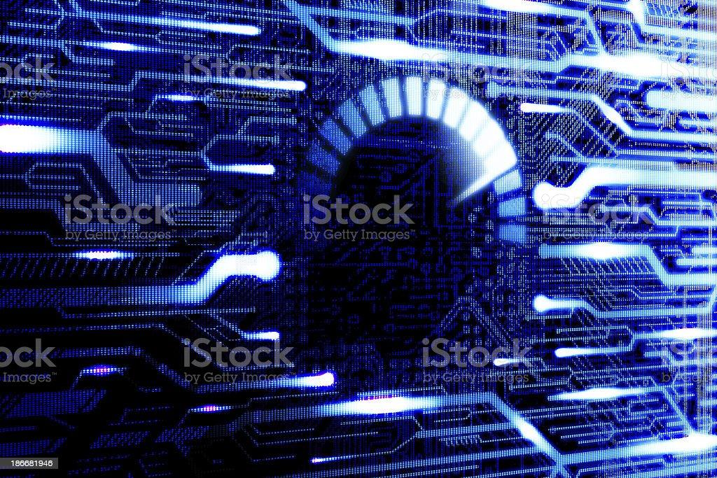 Speed internet. Computer processor usage royalty-free stock photo