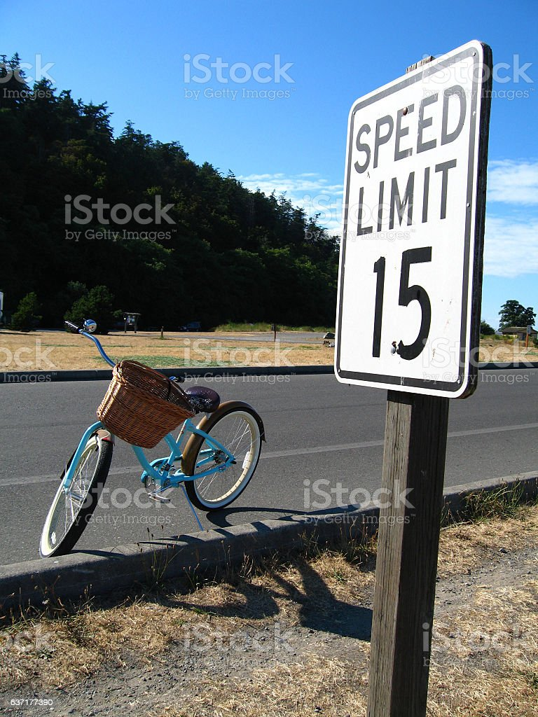 Speed Limit 15 stock photo