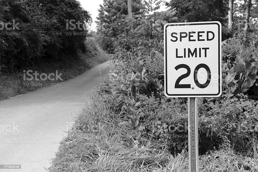 Speed Limit 20 royalty-free stock photo