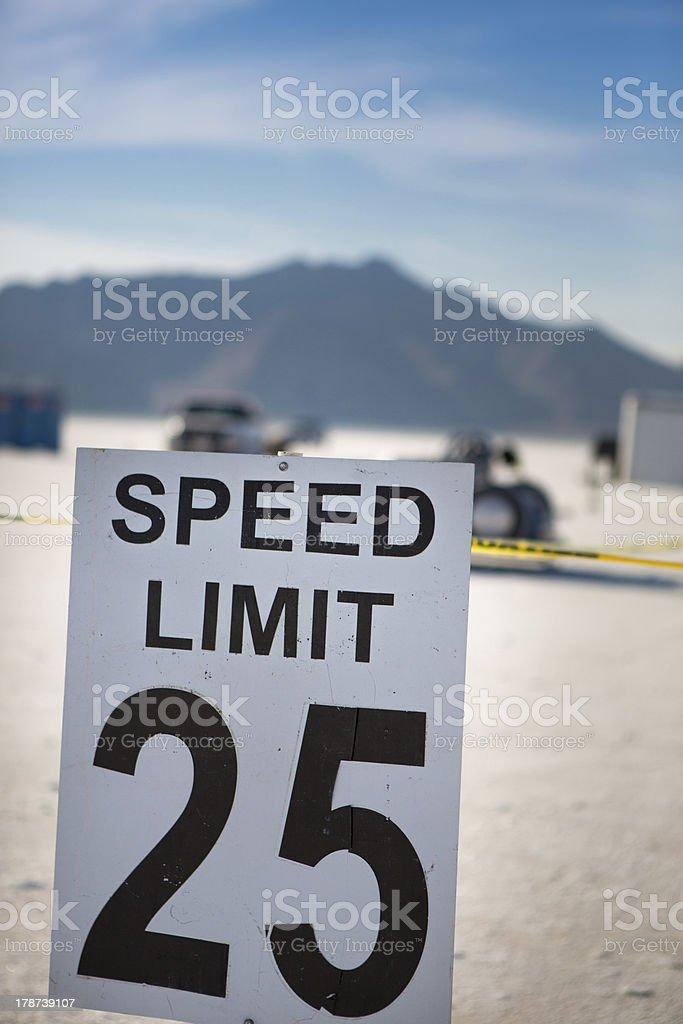 Speed limit 25 at Bonneville stock photo