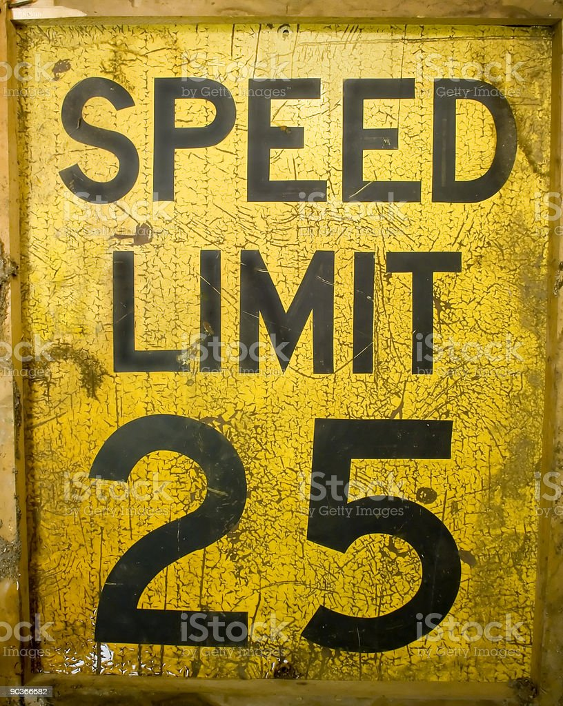 Speed Limit 25 royalty-free stock photo
