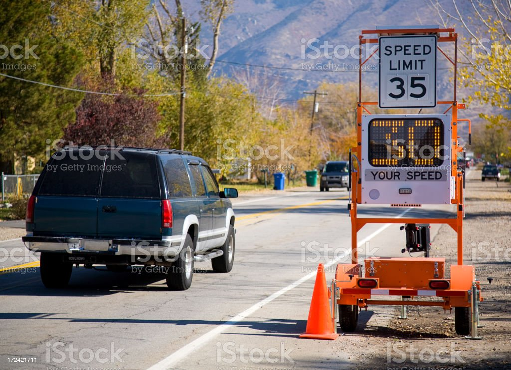 Speed Limit 35 royalty-free stock photo
