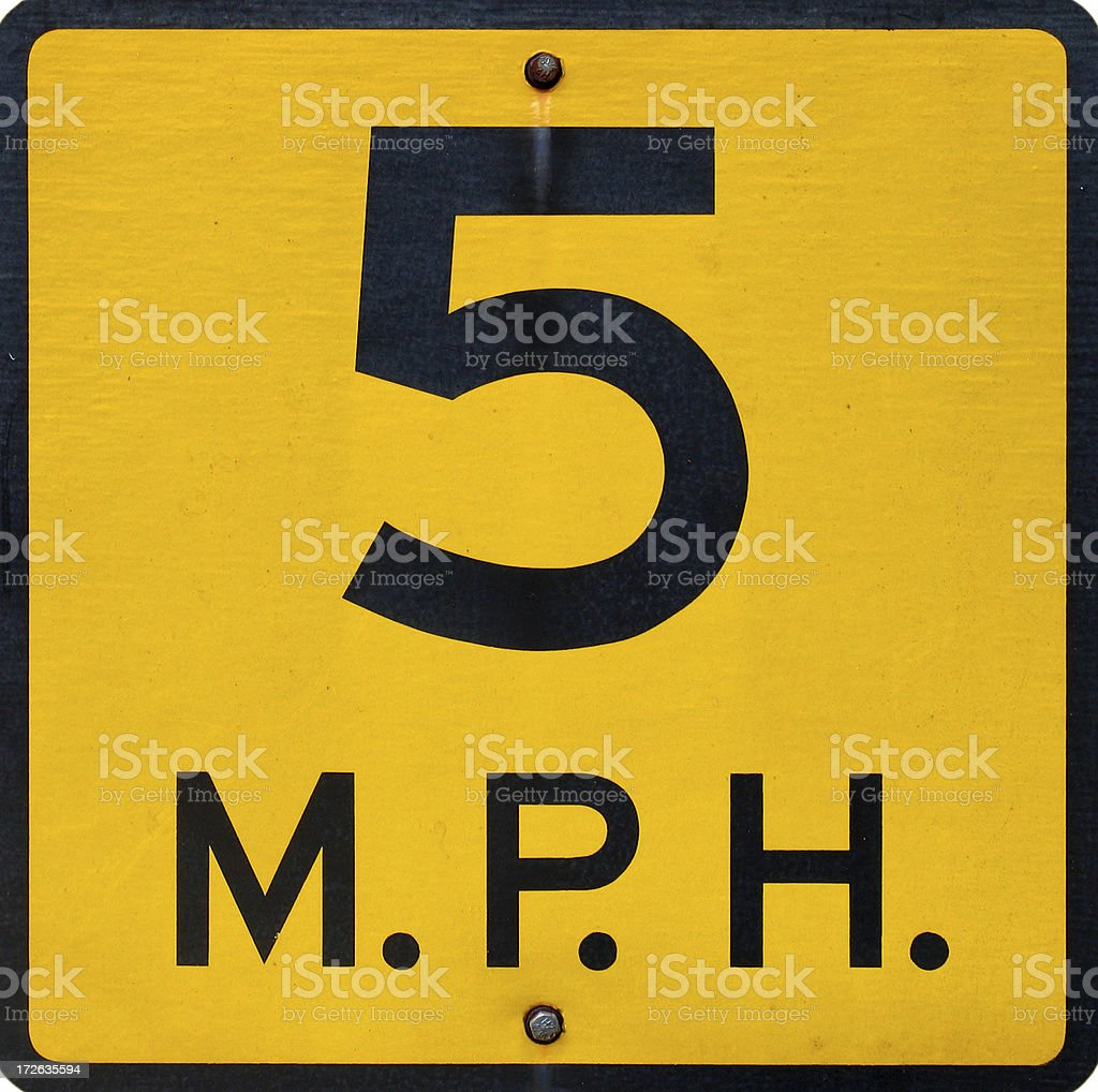 Speed Limit 4 - Gritty royalty-free stock photo
