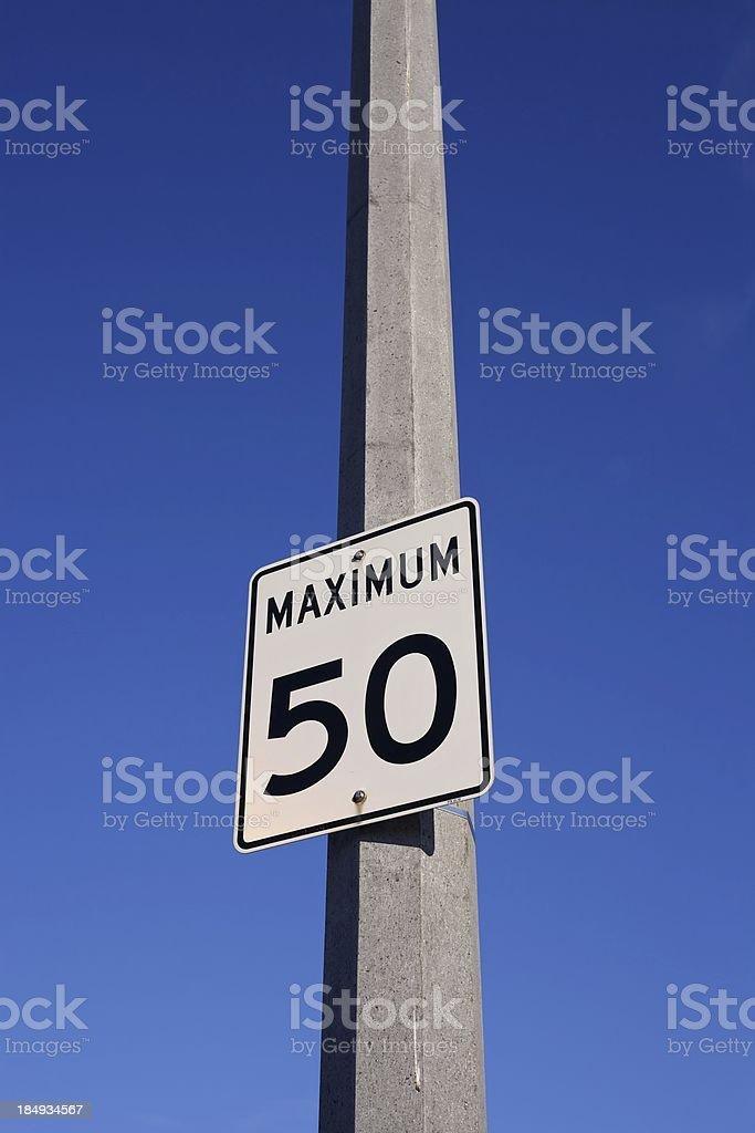 Speed Limit 50 stock photo