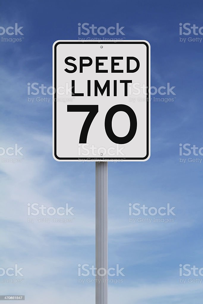 Speed Limit at Seventy stock photo