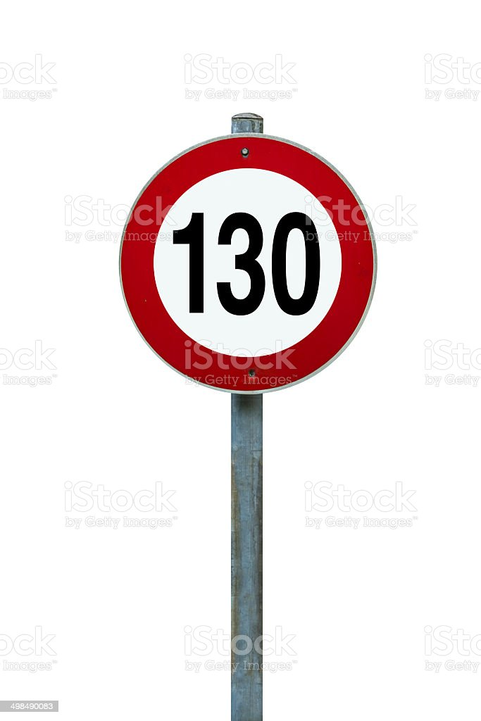 speed limit in europe stock photo