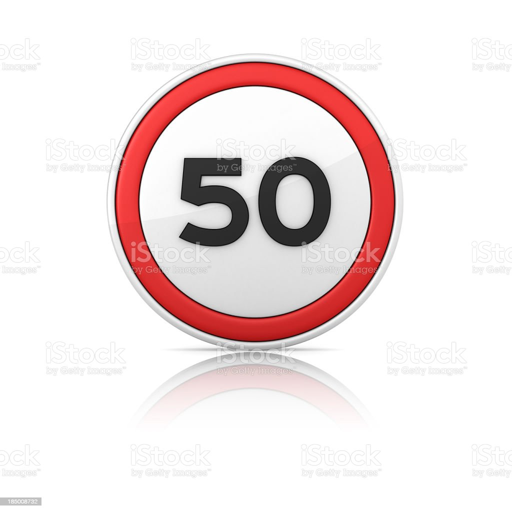 50 Speed Limit Road Sign royalty-free stock photo