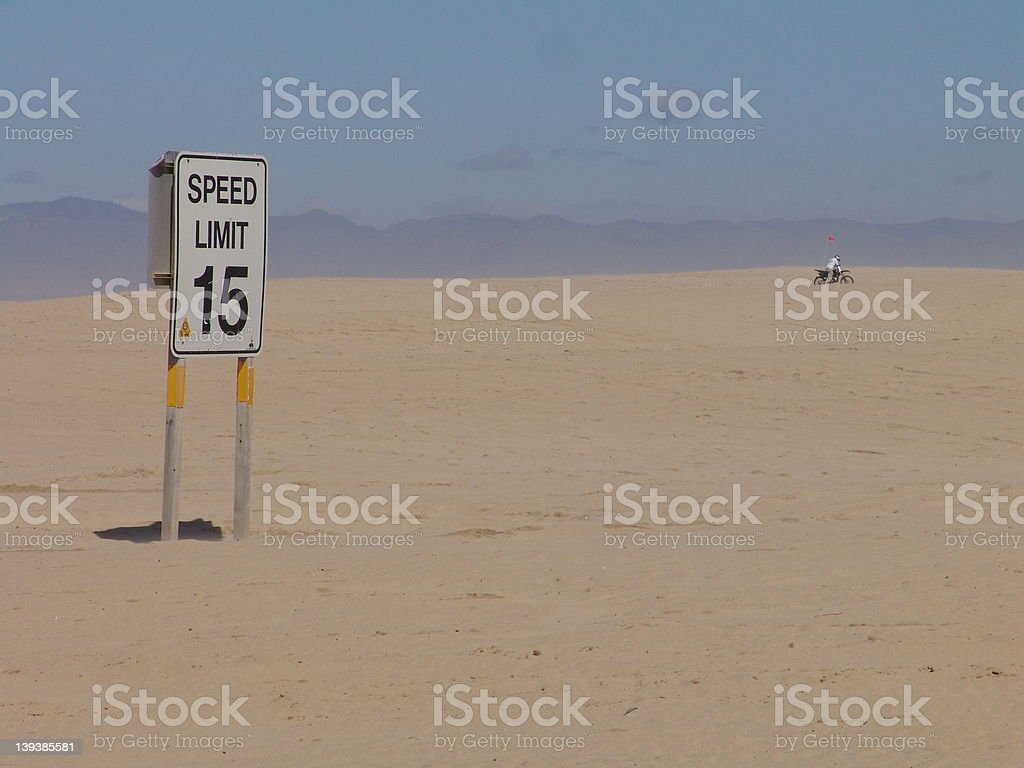 Speed Limit Sign in Nowhere USA stock photo