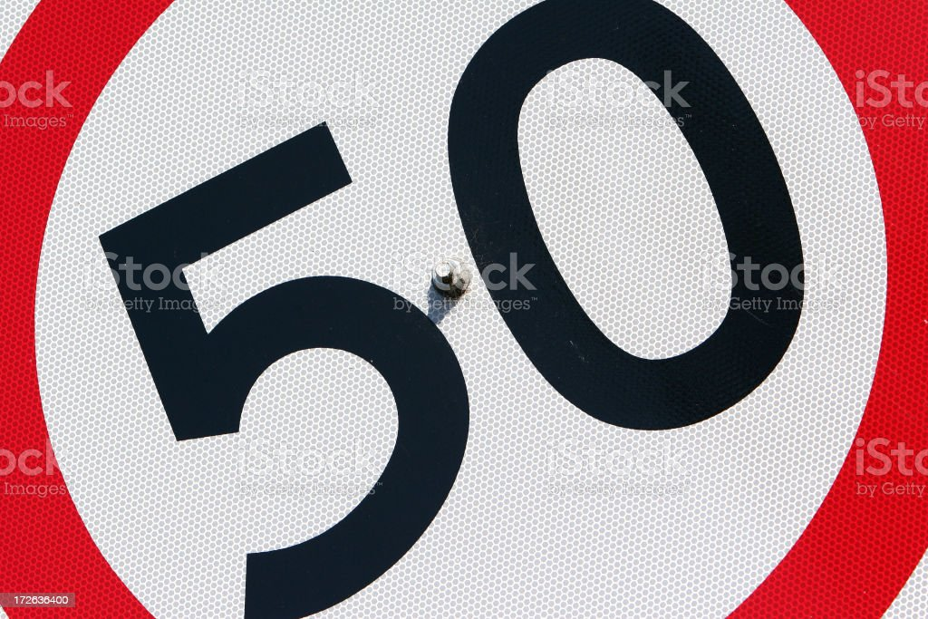 Speed limit sign. royalty-free stock photo