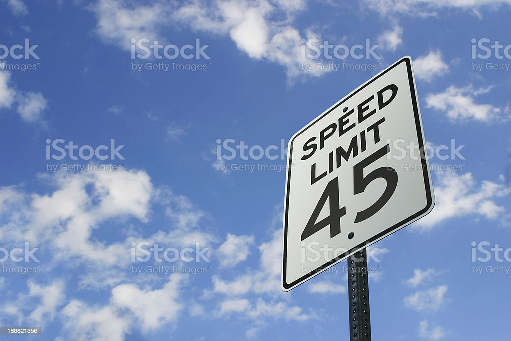 Speed Limit Sign royalty-free stock photo