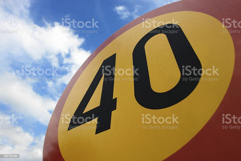 Speed limit to the sky royalty-free stock photo