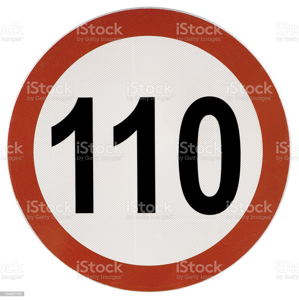 Speed Limit traffic sign stock photo