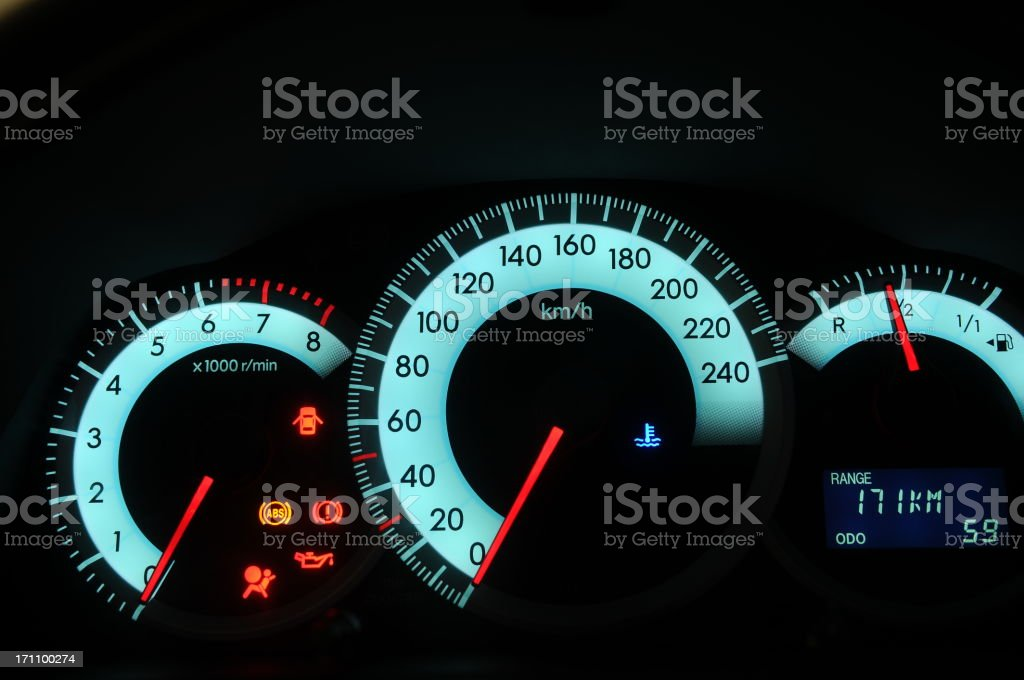 Speed meter stock photo