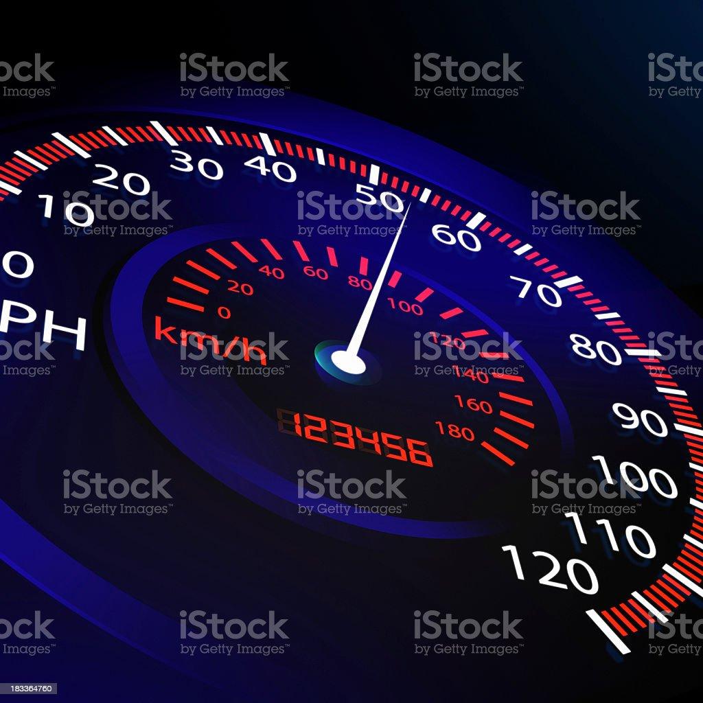 Speed meter stock photo