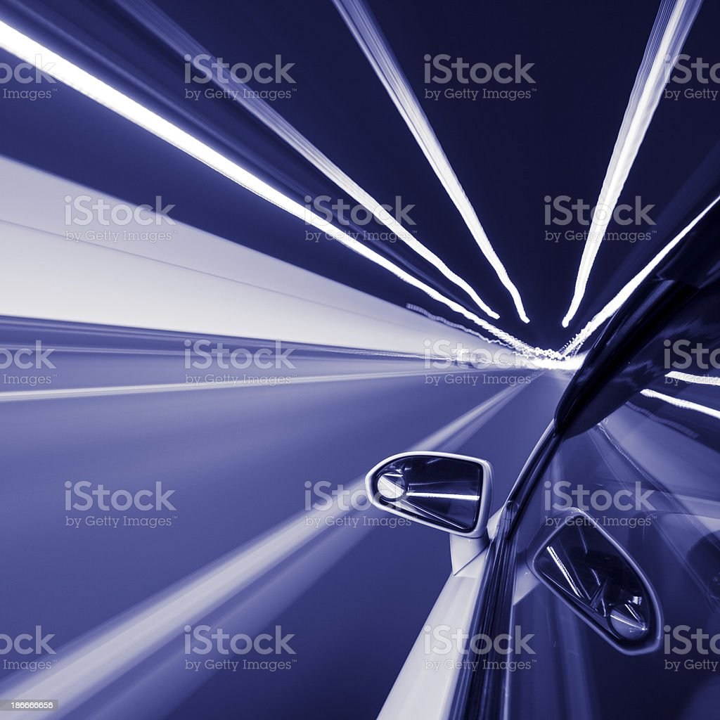 Speed motion in tunnel royalty-free stock photo