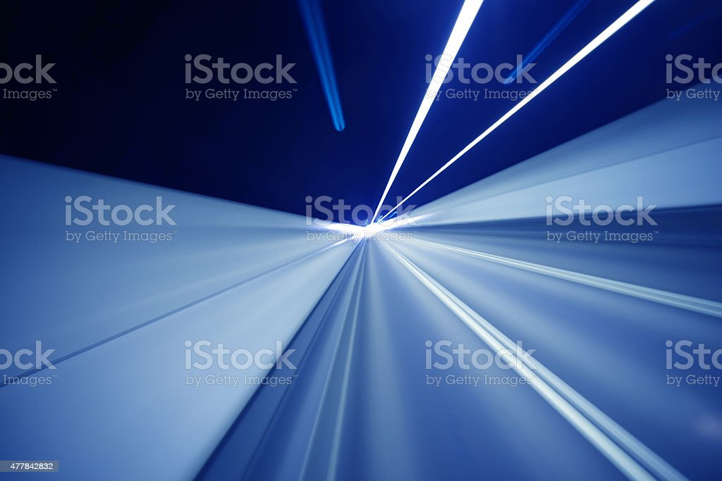 Speed motion in tunnel vector art illustration