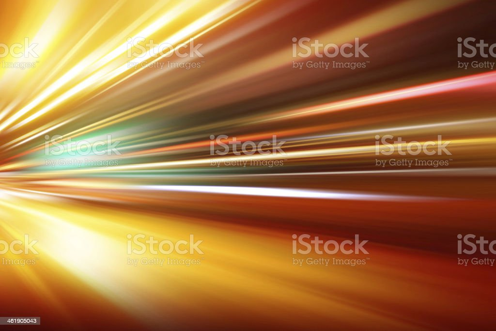 speed motion on night road stock photo