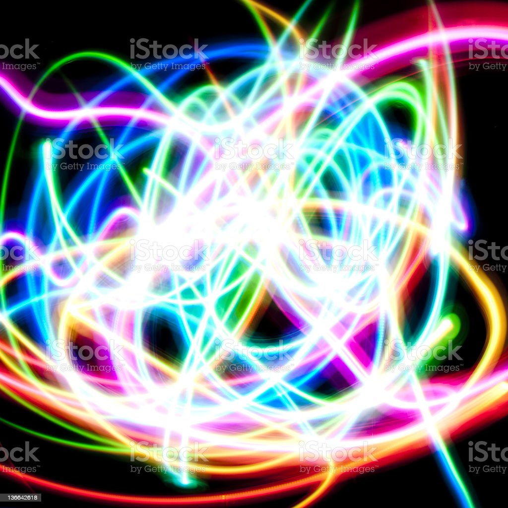 speed of colorful LED lights royalty-free stock photo